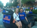 Jason's first UF football game! Go Gators!